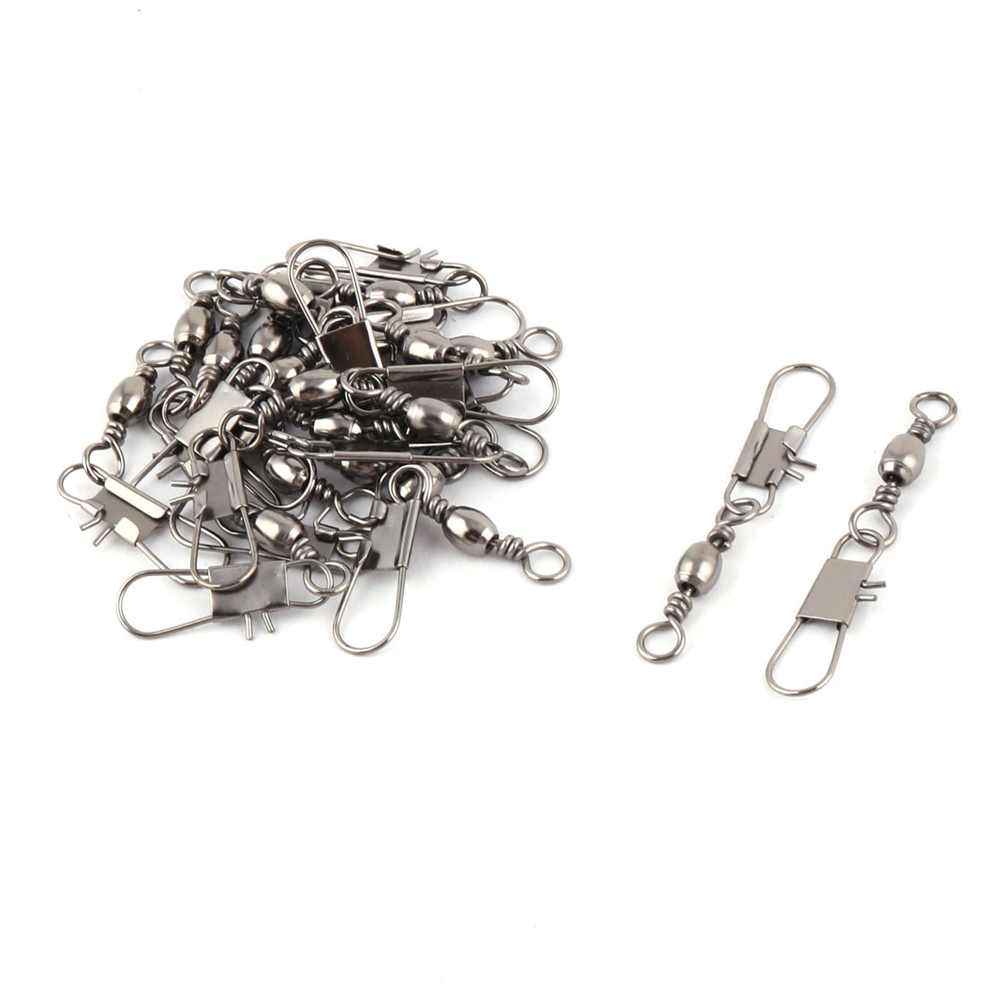 Grey Fishing Line to Hook Connector Swivels 20PCS