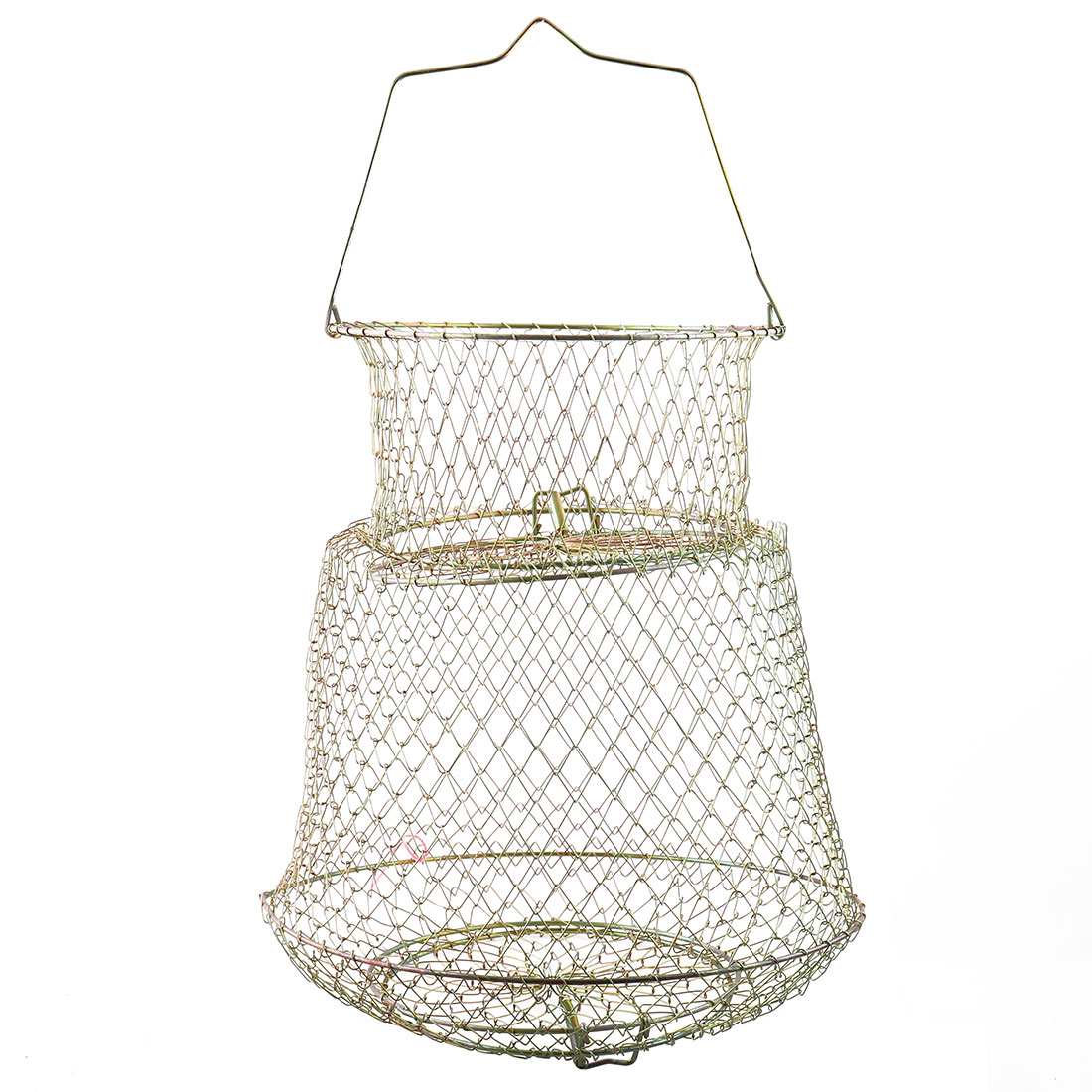 Metal Collapsible Lobster Crab Hoop Net with Handle