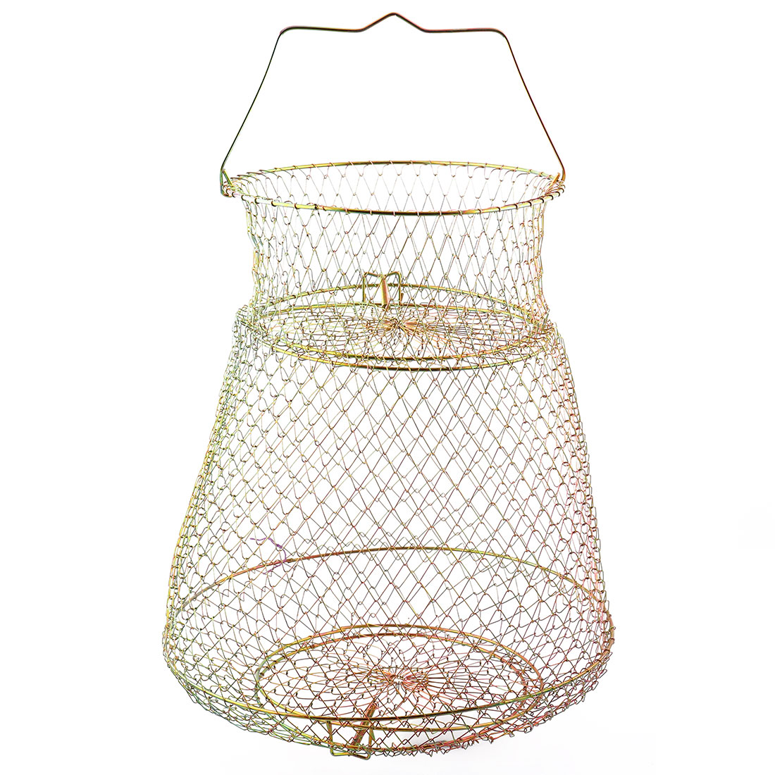Collapsible Metal Crawfish Lobster Crab Hoop Net