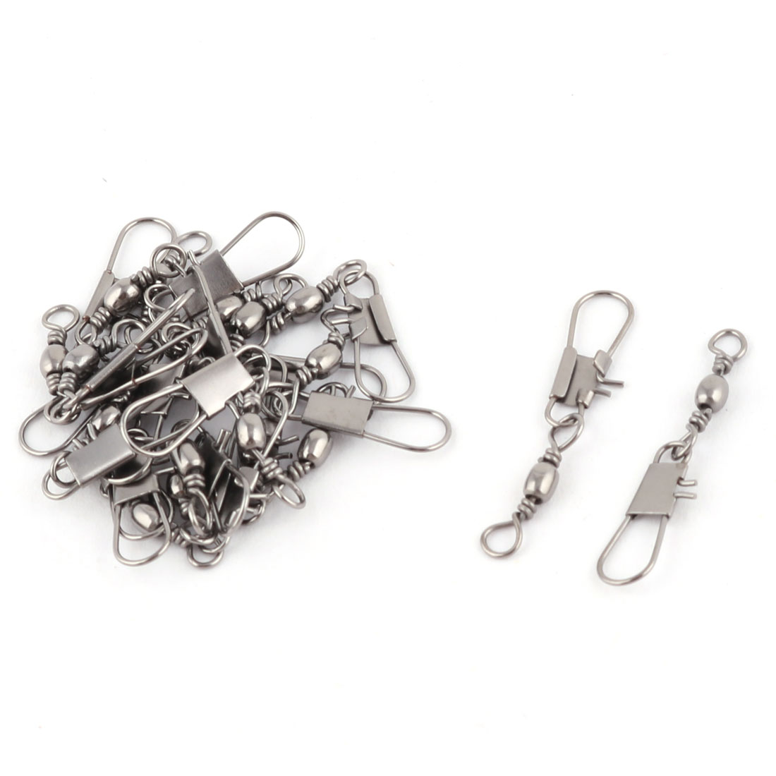 10# Metal Grey Fishing Line to Hook Connector Swivels 20PCS