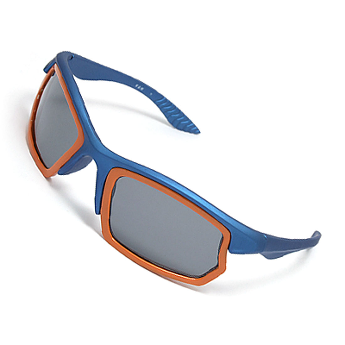Blue Rubberized Plastic Frame Arms Cool Unisex Sunglasses