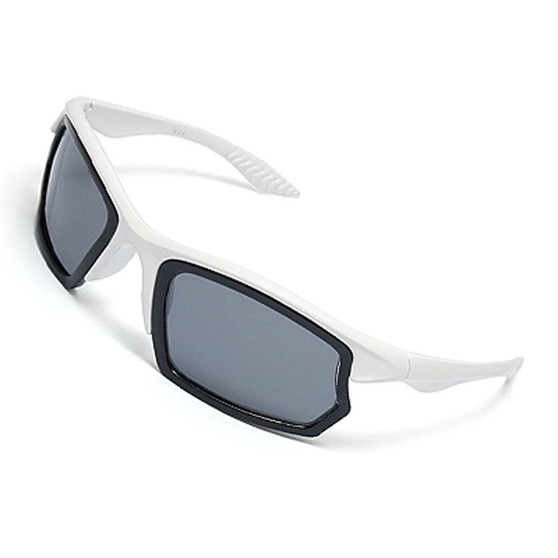 Women Men Cool Plastic Frame White Black Chic Sunglasses