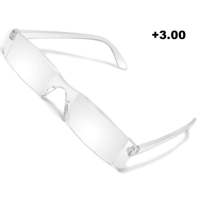 Light Weight +3.00 Rimless Frame Magnifying Presbyopic Eyeglasses