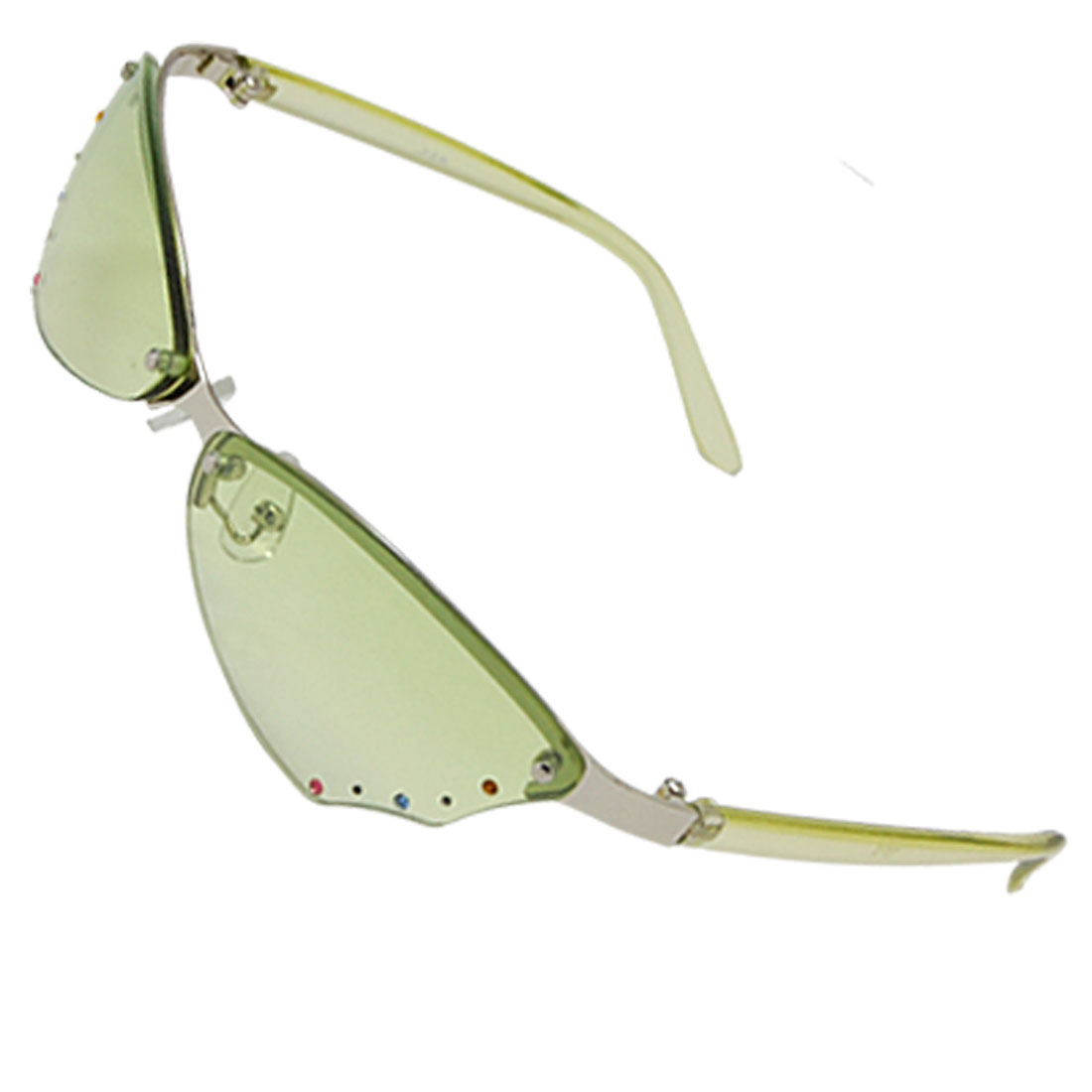 Fashion Rhinestone Plastic Arms Ladies' Eyewear Sunglasses