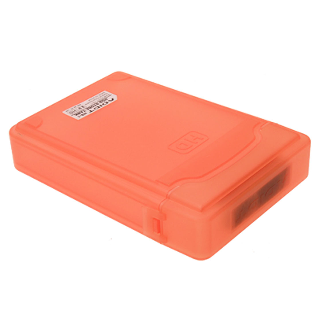 3.5 Inch HDD Hard Disk Drive Enclosure Tank Case Orange