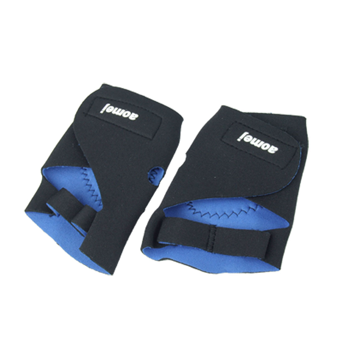 Half Finger Black Elastic Sport Gloves Support