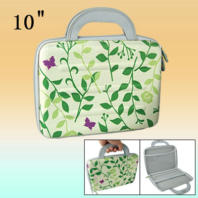 "Butterfly Pattern Handbag Carry Case for 10"" Notebook"