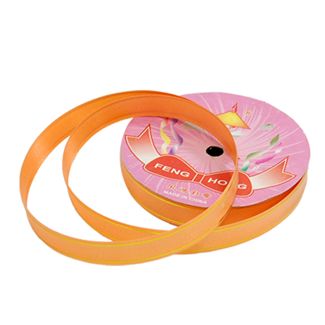 Gifts Packaging Wrapping Orange Pull Bows Circle Ribbons
