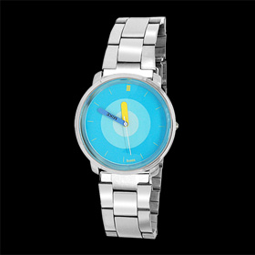 Men's Fashion Metal Quartz Wrist Watch with Blue Dial