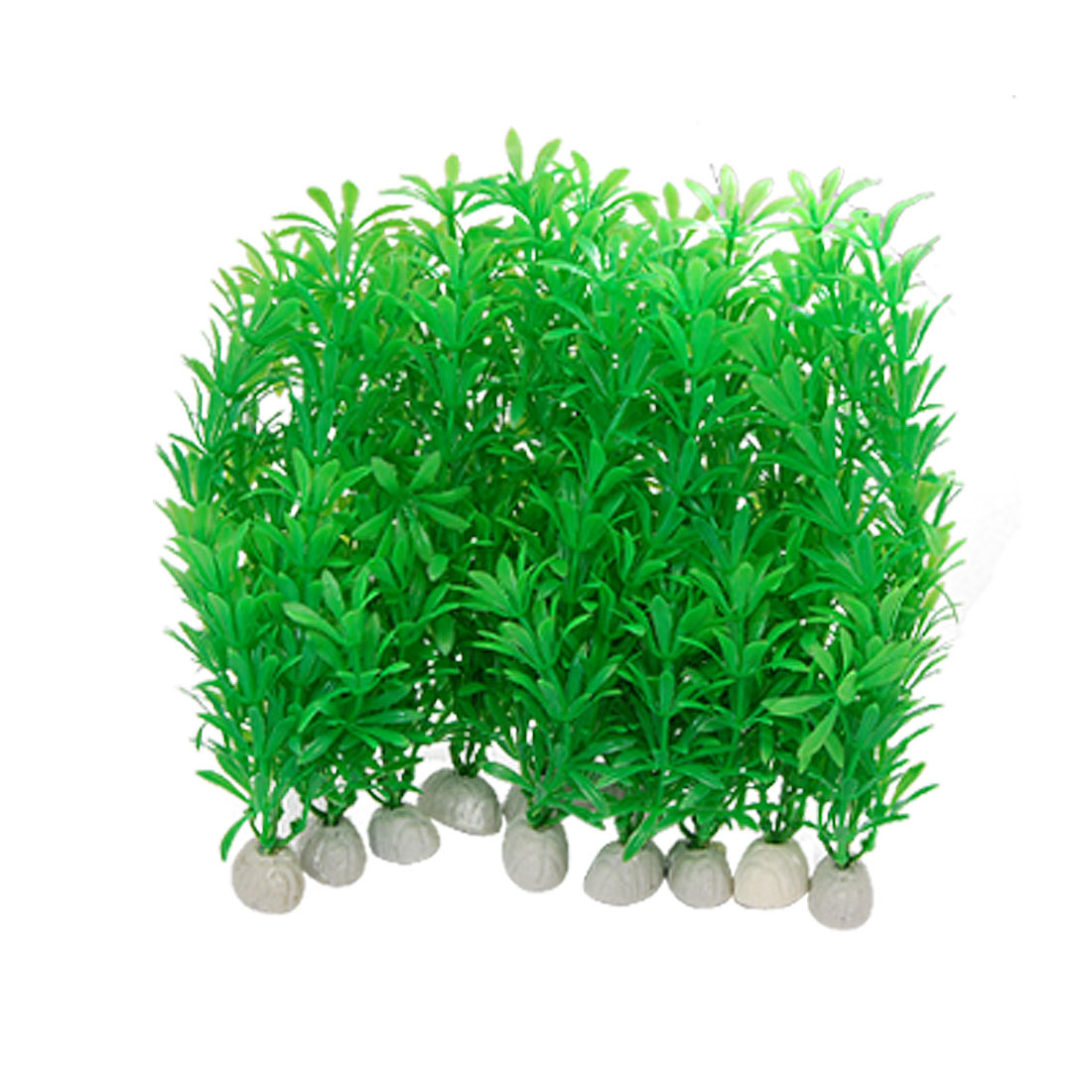 Green Plastic Plants Grass Decor for Aquarium Water Tank