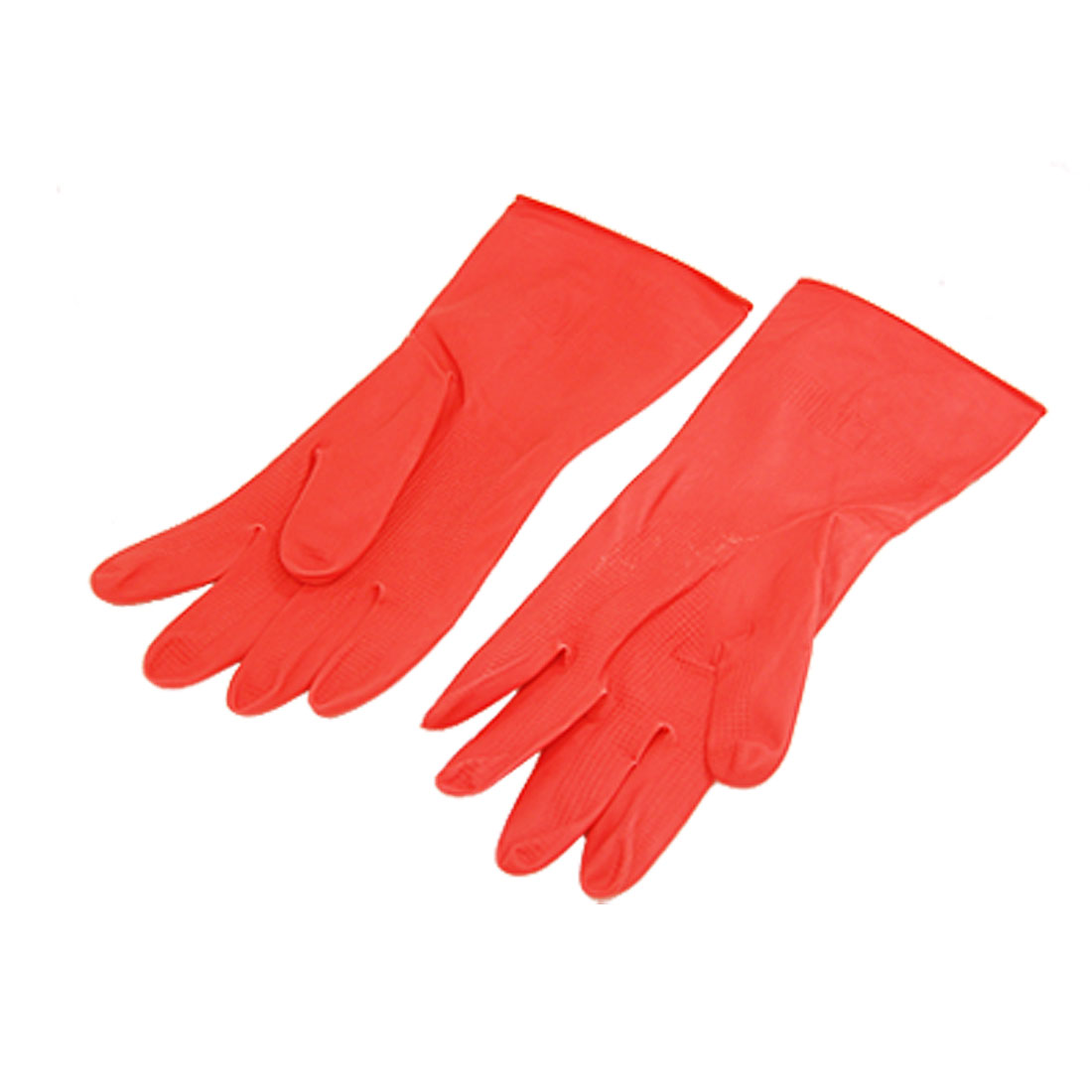 Long Household Wash Clean Latex Gloves Size Large Red