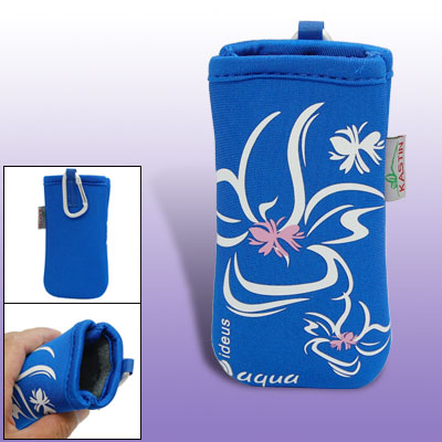 Neoprene Bag Sock Blue Case Pouch for iPhone