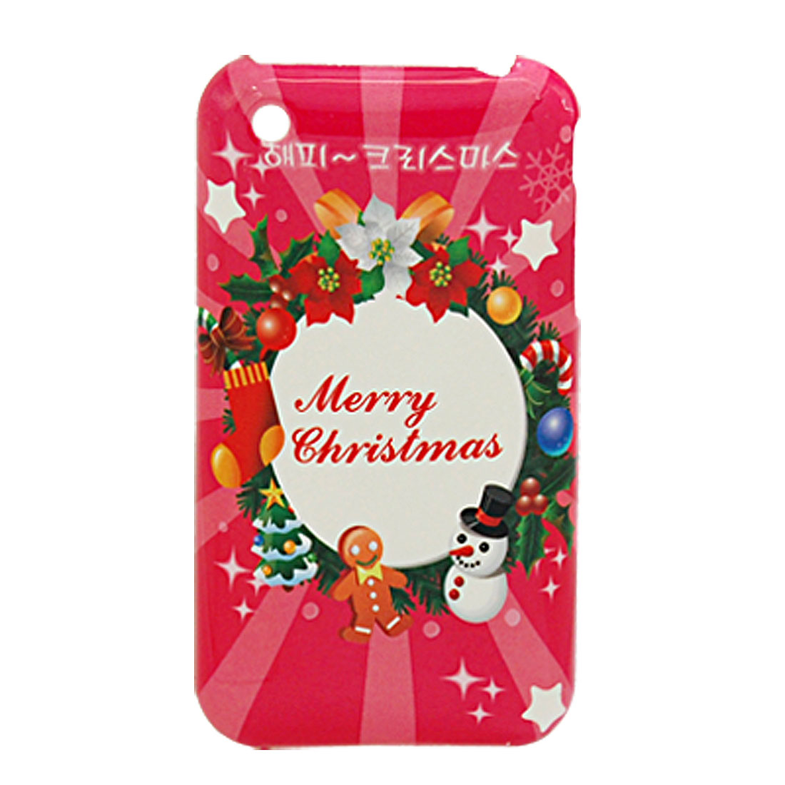 Christmas Theme Hard Plastic Case Cover for Apple iPhone 3G