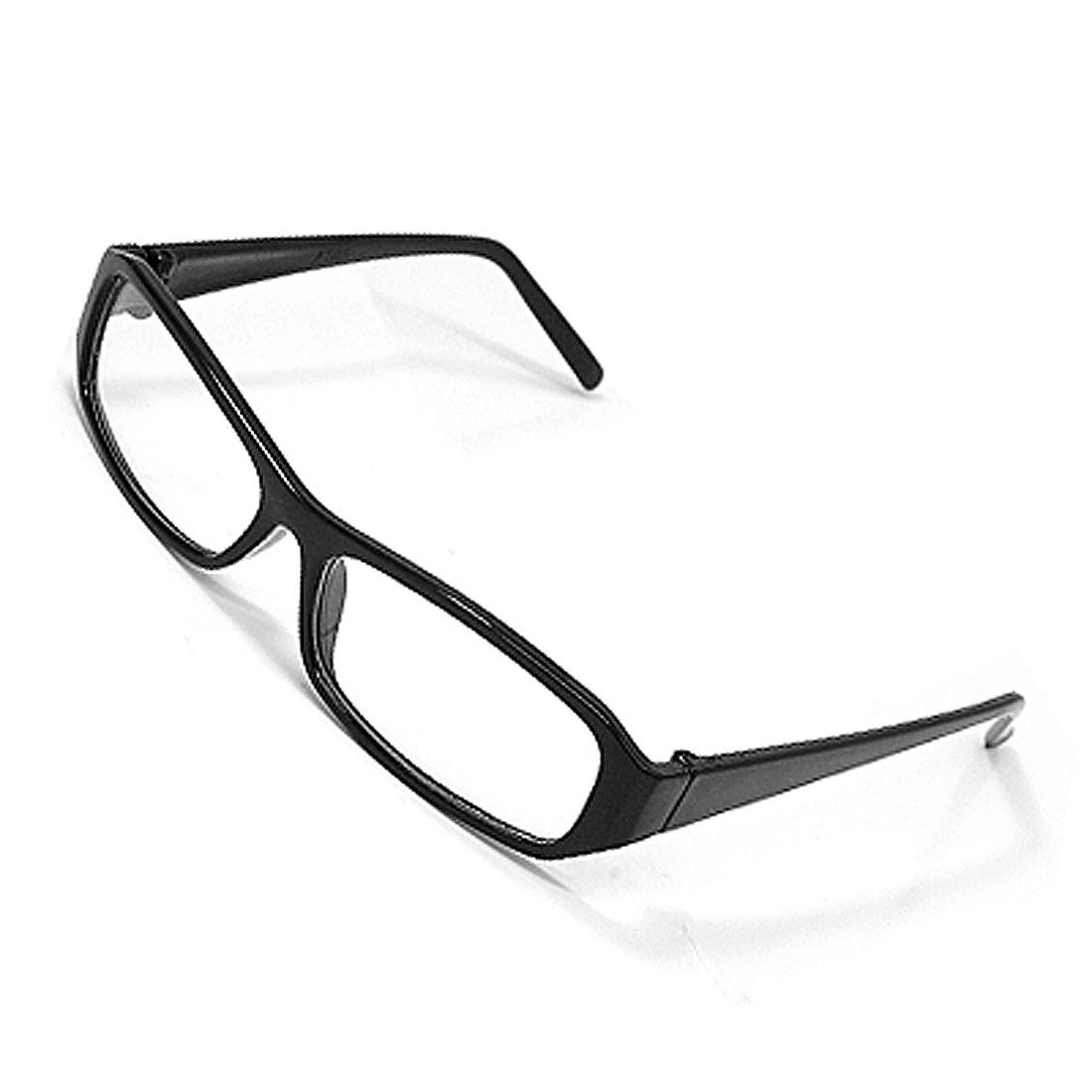 Clear Lens Black Plastic Frame Elegant Chic Sunglasses
