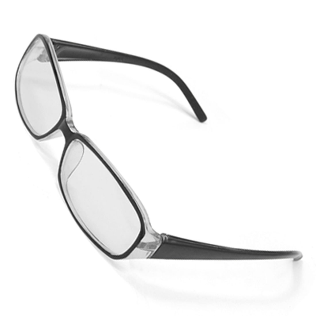 Chic Black Plastic Temples Full-rim Frame Clear Lens Glasses