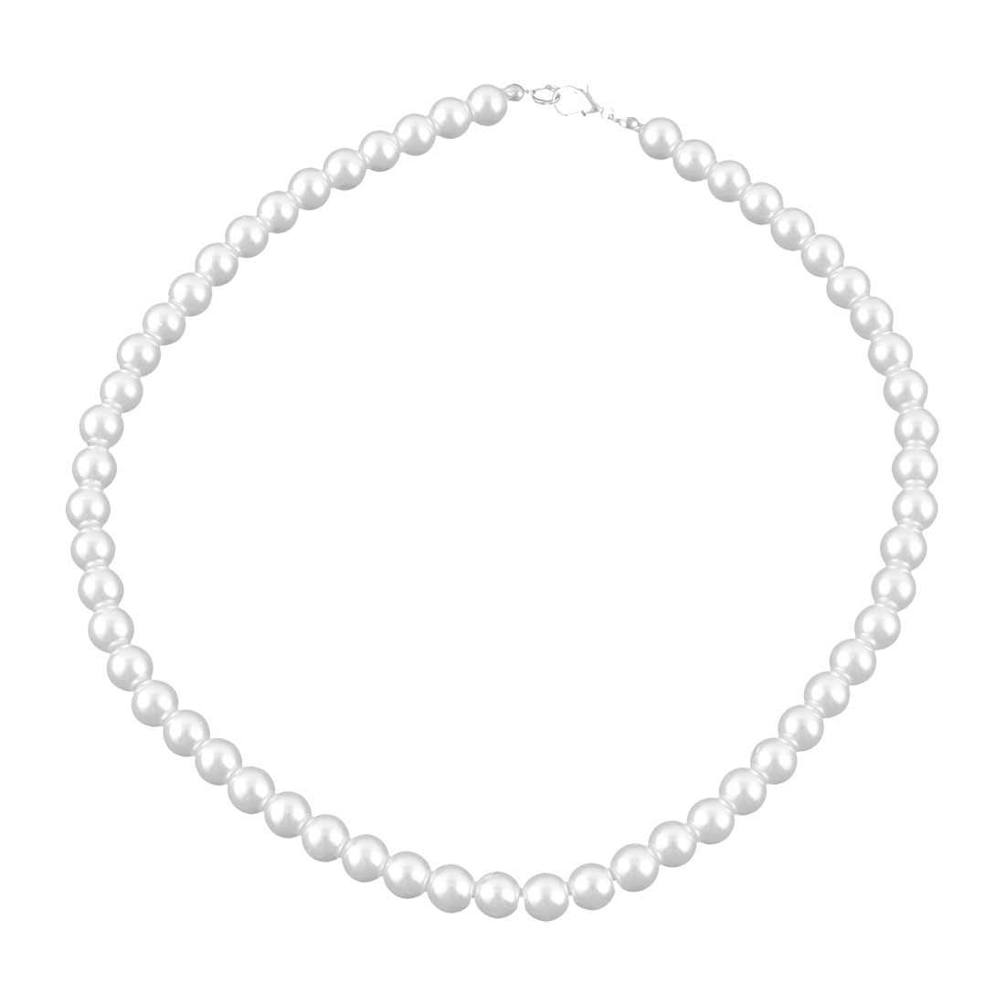 Charming Pearl Necklace w. Metal Clasp Costume Jewelry