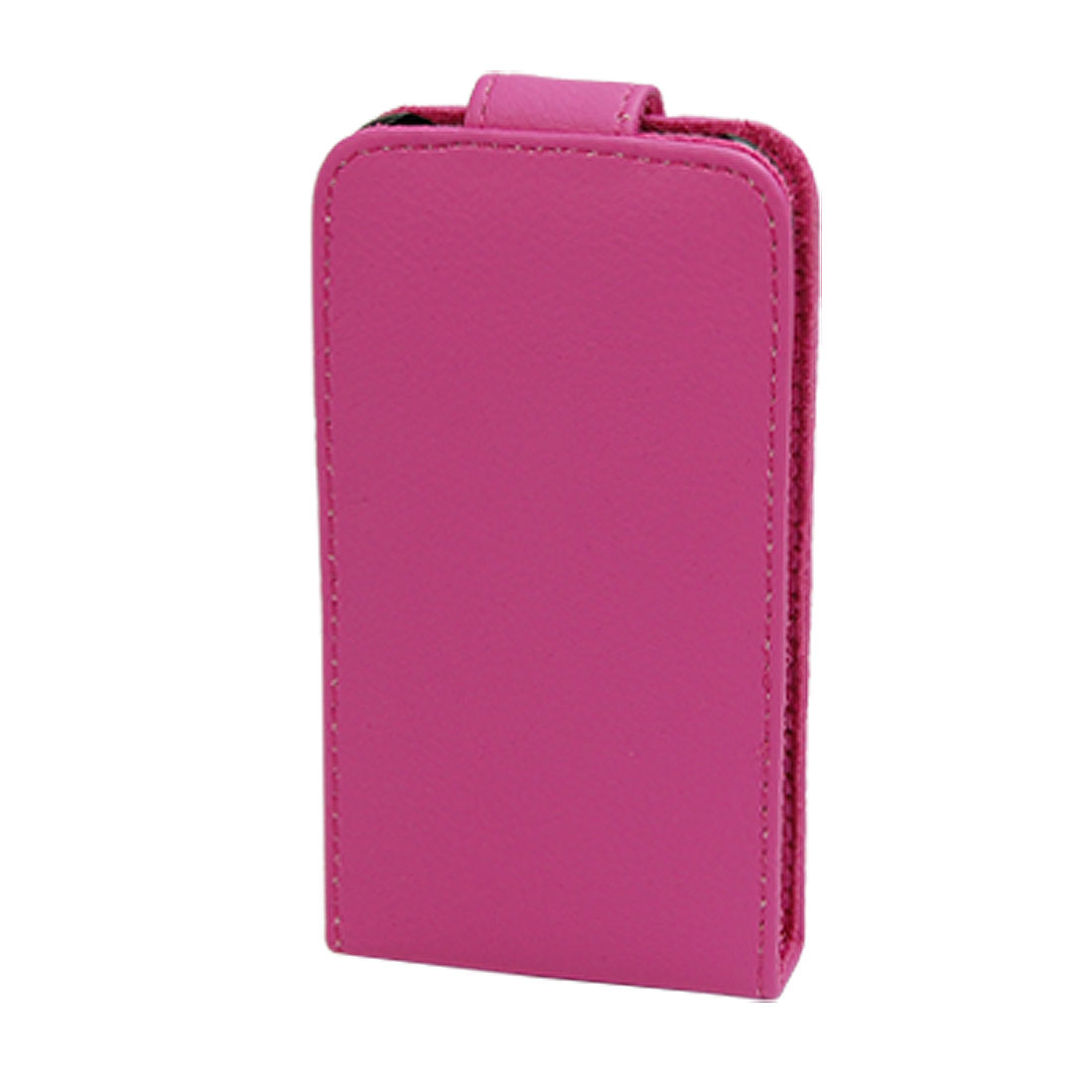 Leather Pouch Back Case for Apple iPhone 3G Fuchsia