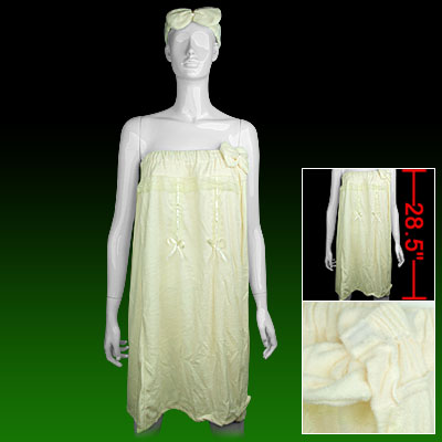 Lace Flower Decor Ladies' Shower Towel Bath Wrap w. Headband