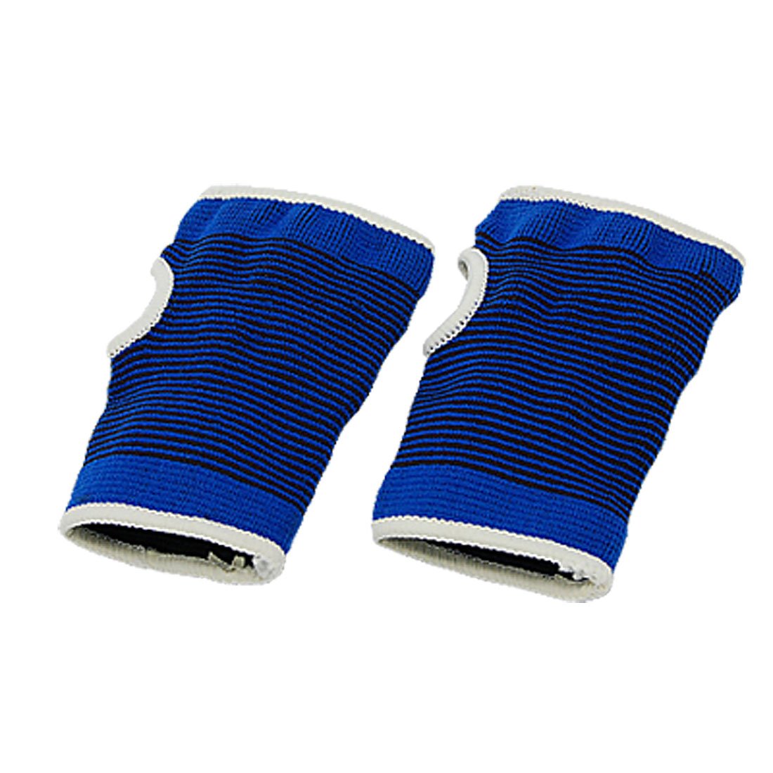 Sport Wrist Hand Brace Elastic Palm Guard Support Protect Blue Pair