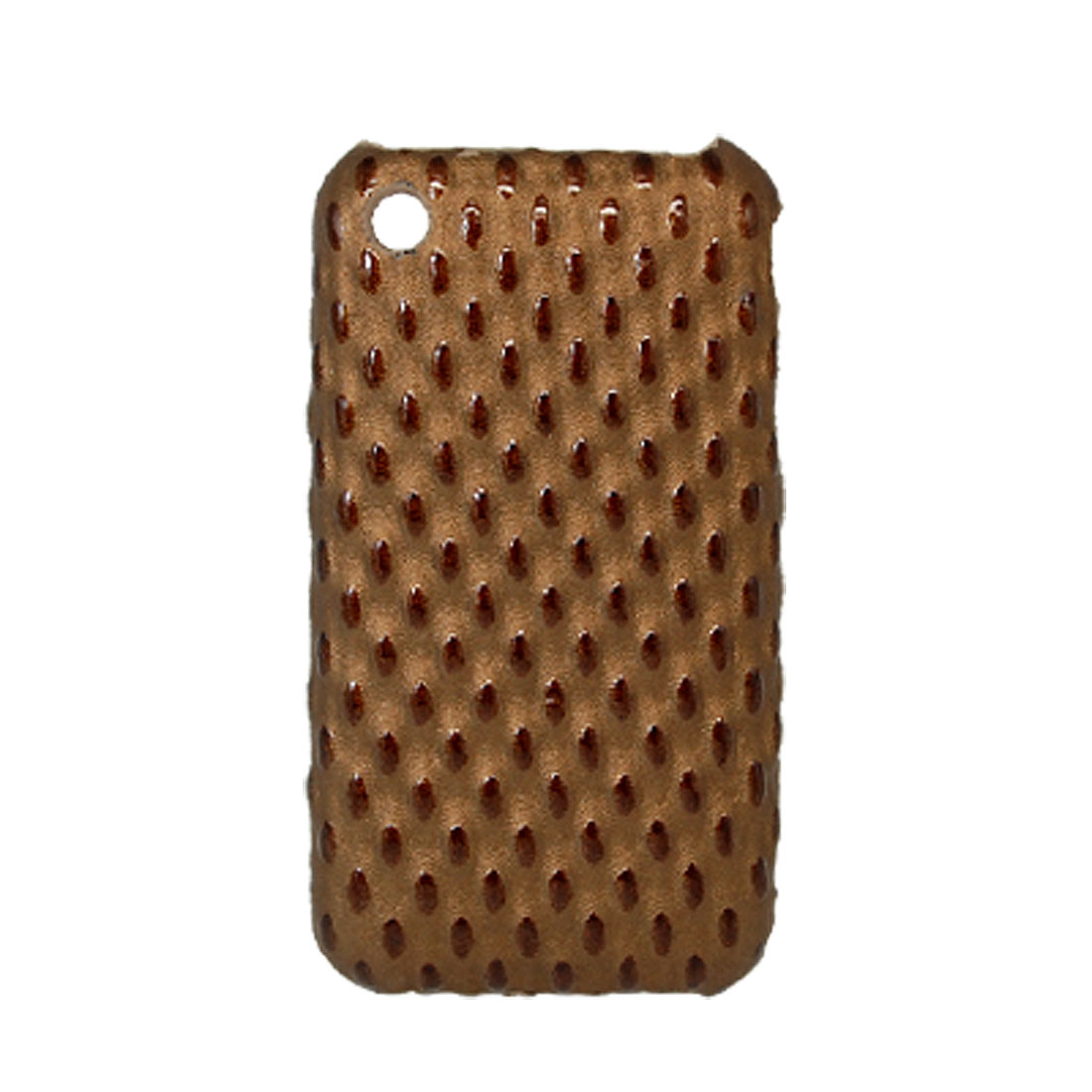 Non-Slip Hard Plastic Case Cover Brown for Apple iPhone 3G