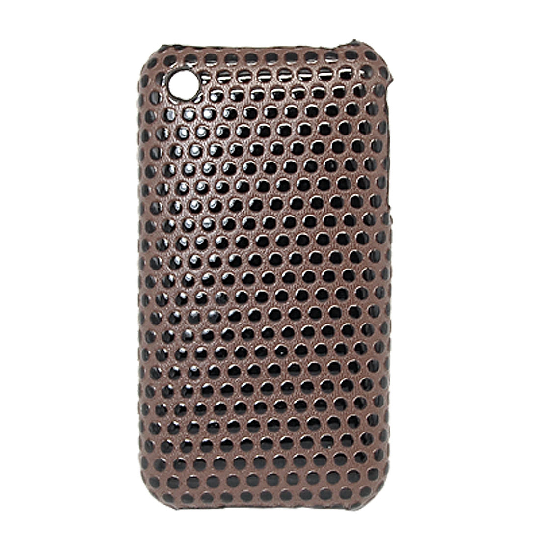 Dots Design Hard Plastic Case Cover Brown for Apple iPhone 3G