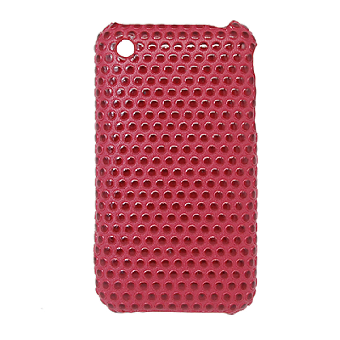 Dots Style Hard Plastic Case Cover Red for Apple iPhone 3G