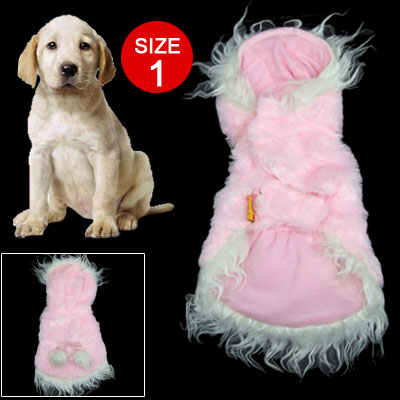 Beautiful Pink With White Hem Size 1 Doggie Clothes