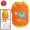 Size 4 Summer Orange Cute Pet Puppy Dog Clothes Apparel Shirts T-shirt Vest