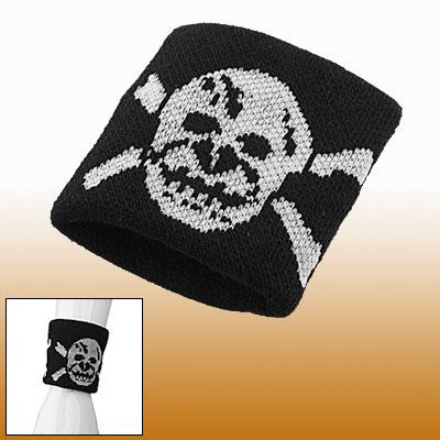 Skull Pattern Cotton Neoprene Elastic Sports Wristband