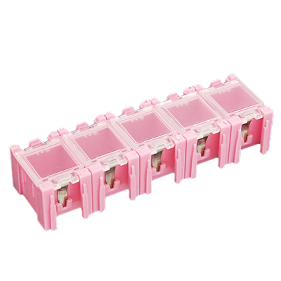Plastic Components Electronics Storage Boxes Pink Case