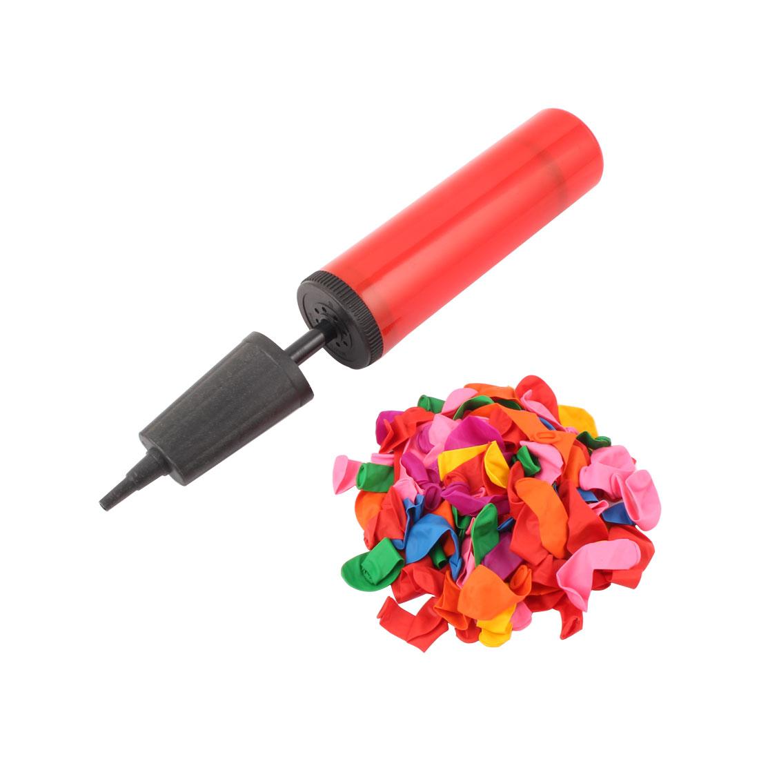 100 PCS Latex Small Balloons + Pump Hand Held Inflator