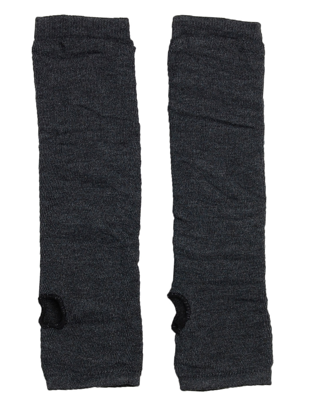 Ladies Black Gray Elastic Long Arm Fingerless Warmer