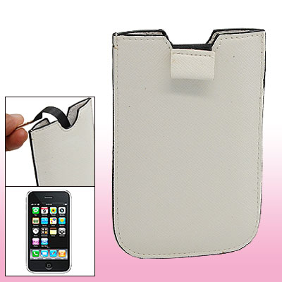 Anti-slip White Leather Case Pouch for Apple iPhone 3G