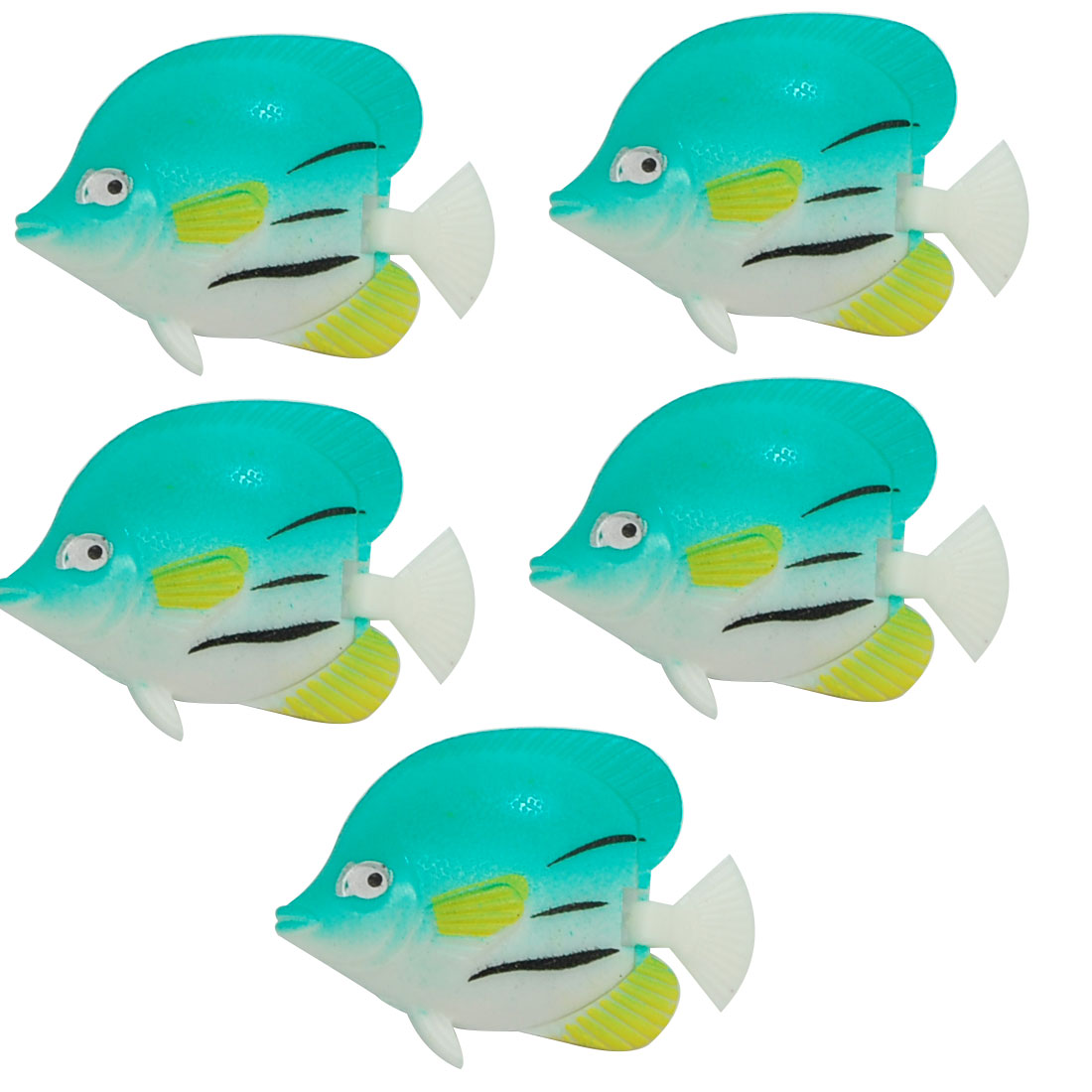 5 Pieces Aquarium Tank Decoration Plastic Floating Fish