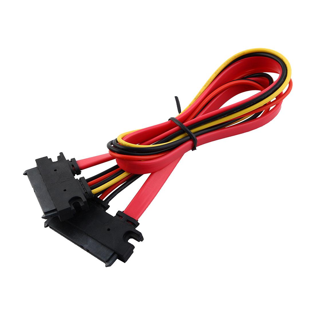 SATA Female to Female 7+15 Pin Serial ATA Data Cable