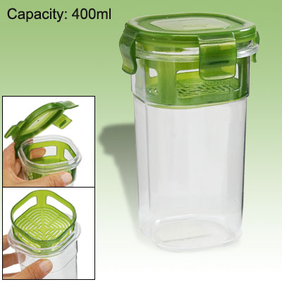 400ML Resusable Water Bottle Portable Crystal Plastic Cup