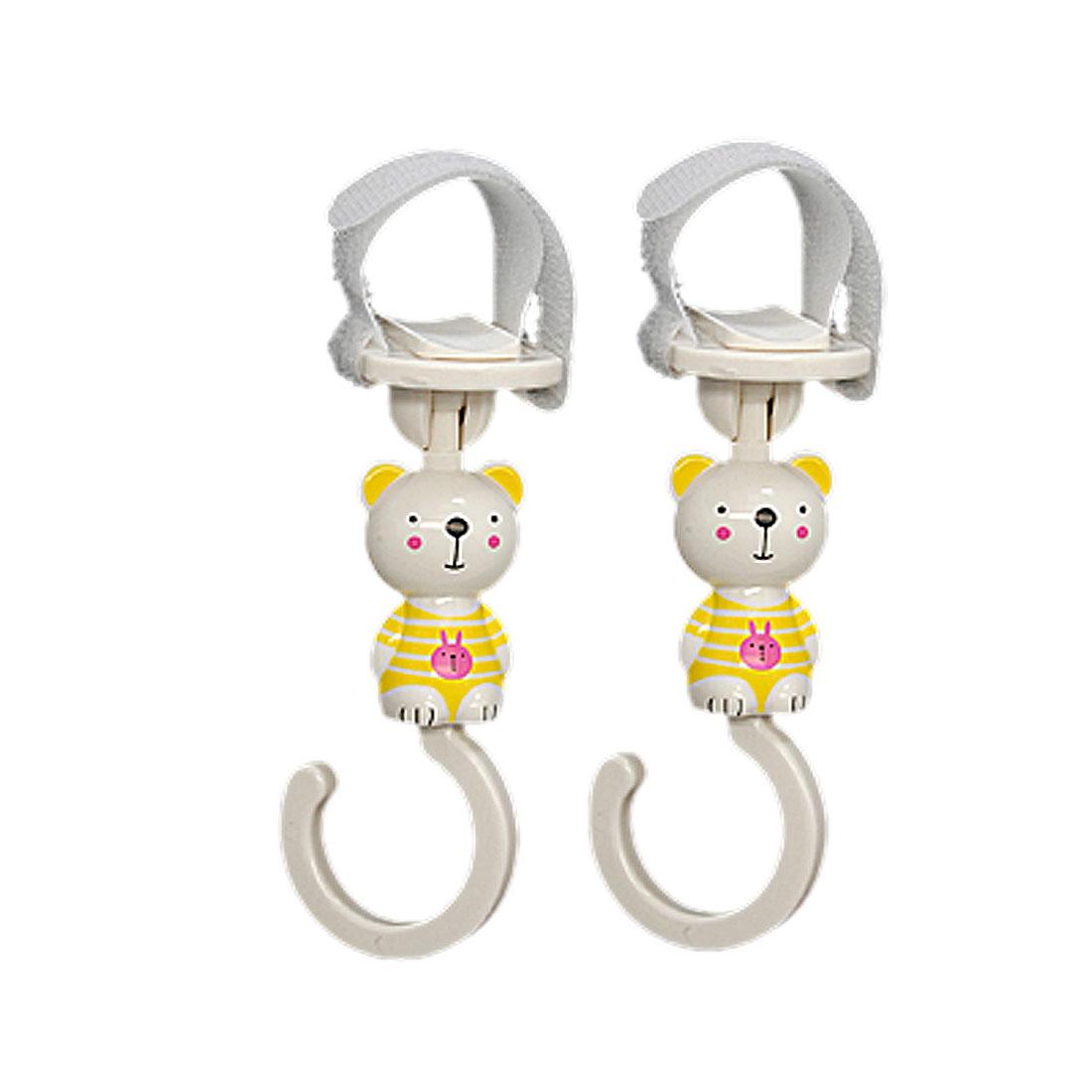Portable Lovable Cartoon Style Hanger Clasp Hook 2 PCS