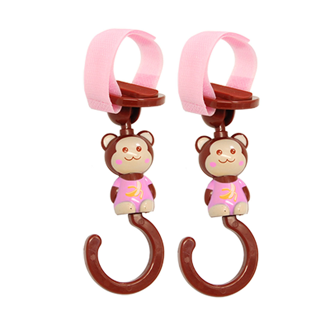 2 PCS Portable Hook and Loop Fastener Strap Cartoon Hanger Clasp Hook