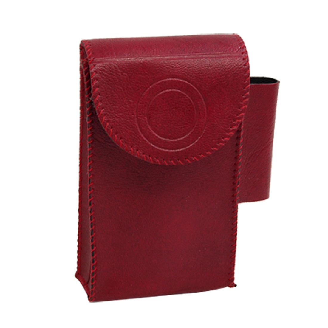 Cigarette Cigars Case + Lighter Holder 2 in 1 Bag Pouch Red