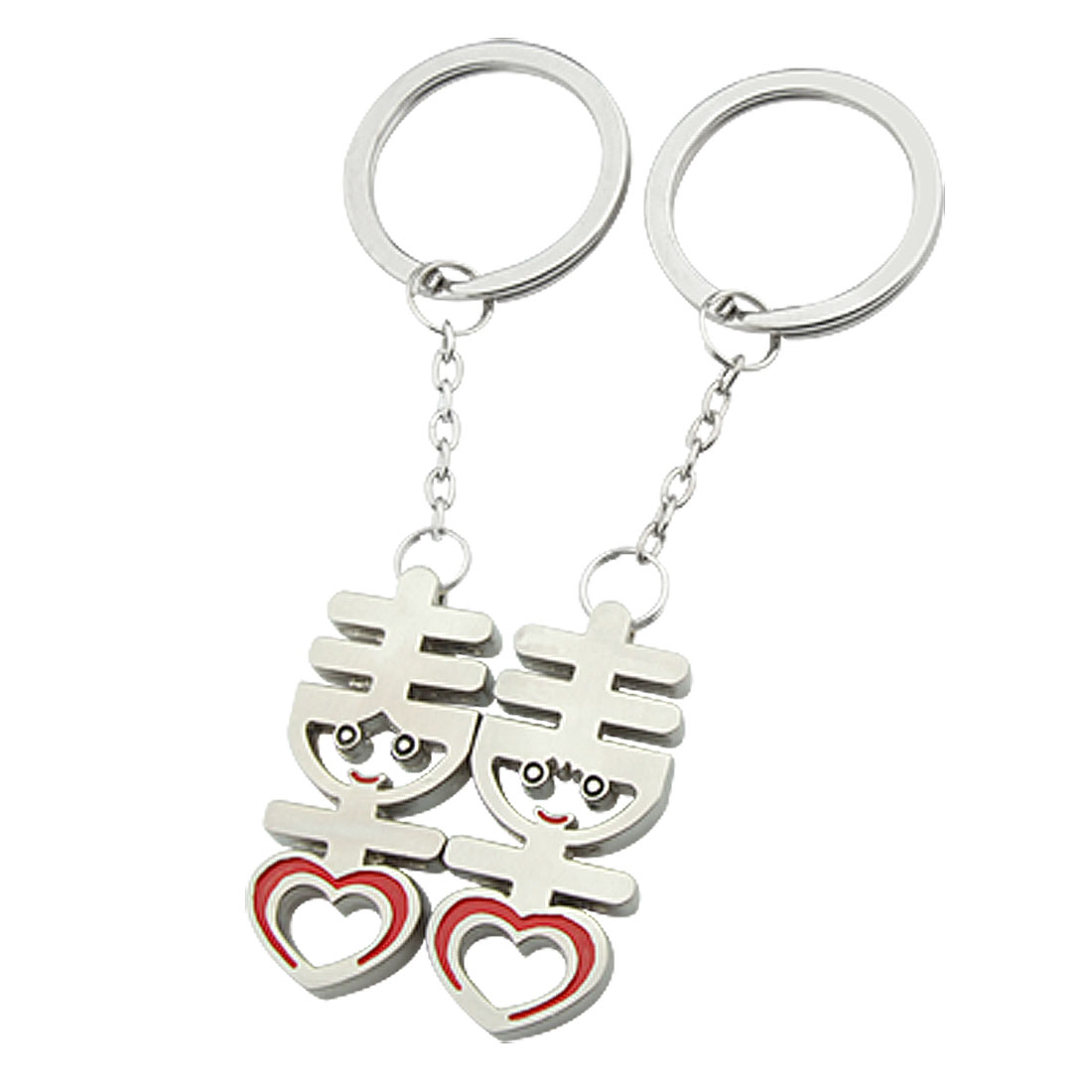 Chinese Words Double Happiness Couple Lover Key Chains Key Rings