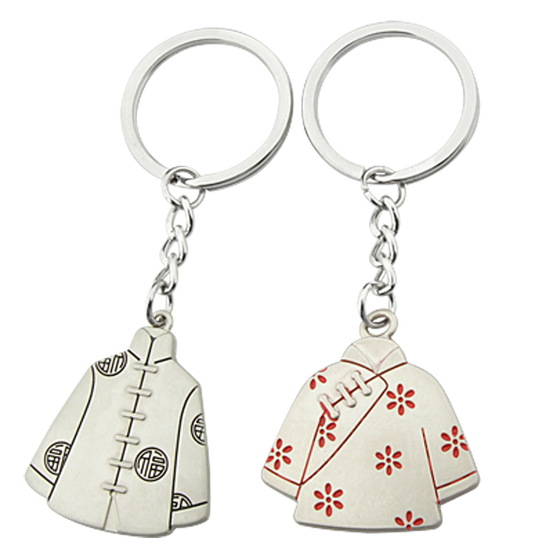 Chinese Couple Suit Lover Design Key Chains Keyrings