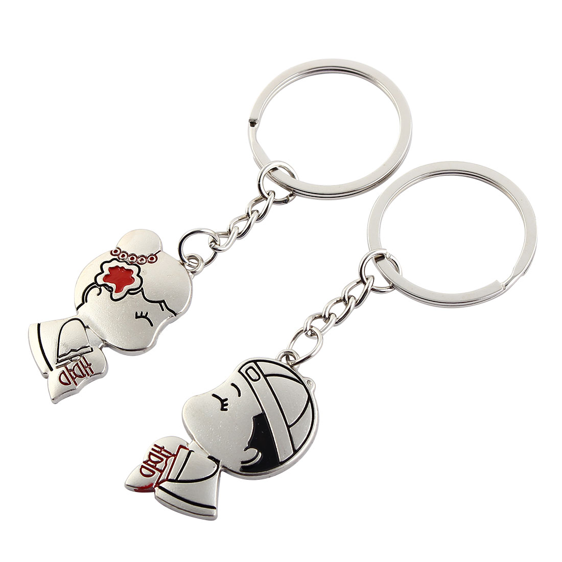 Couple Bag Keyring Lovers Keychain