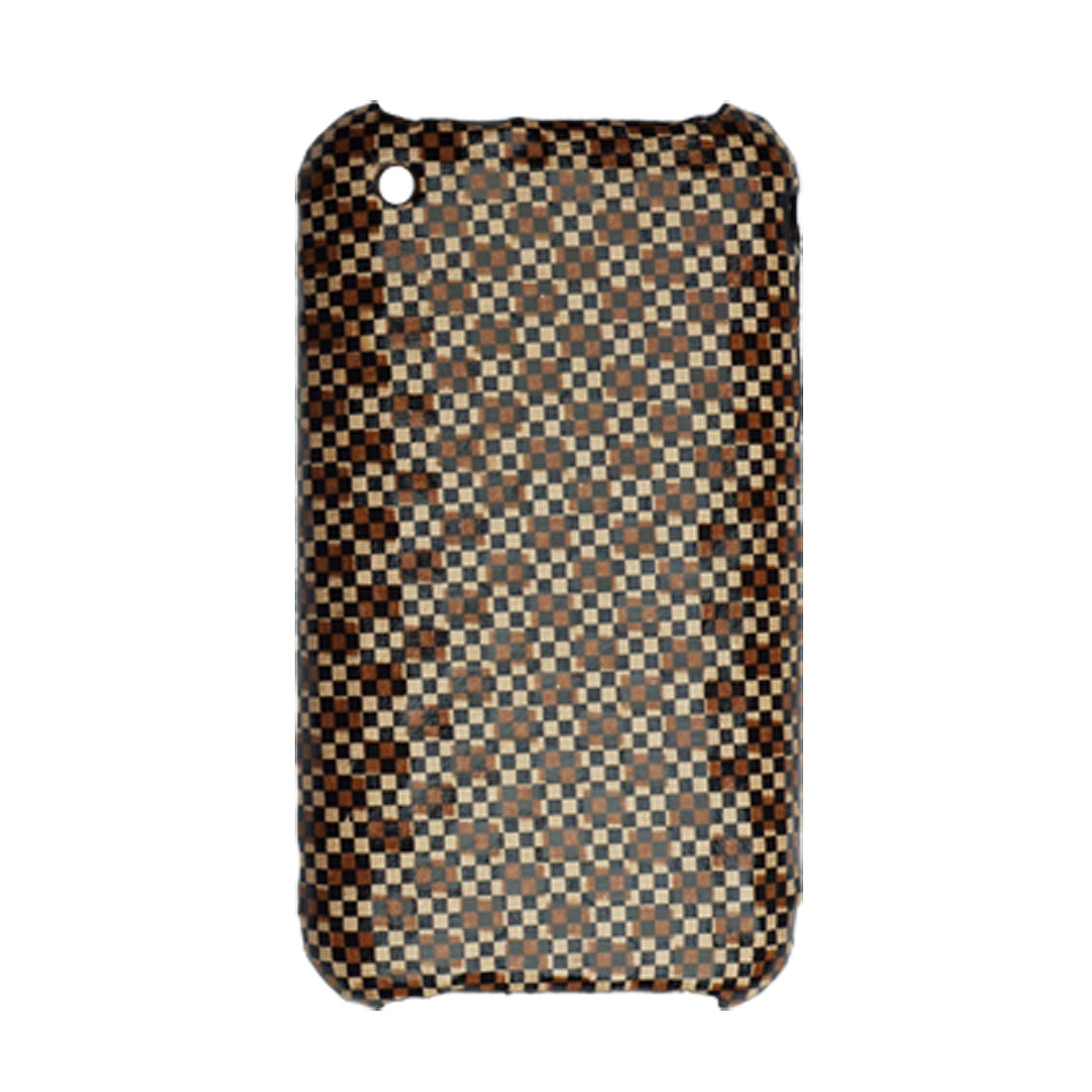 Stylish Checked Coated Plastic Back Case for iPhone 3G