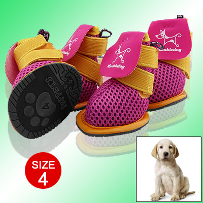 Breathable Pet Dog Shoes Protective Boots Booties Size 4