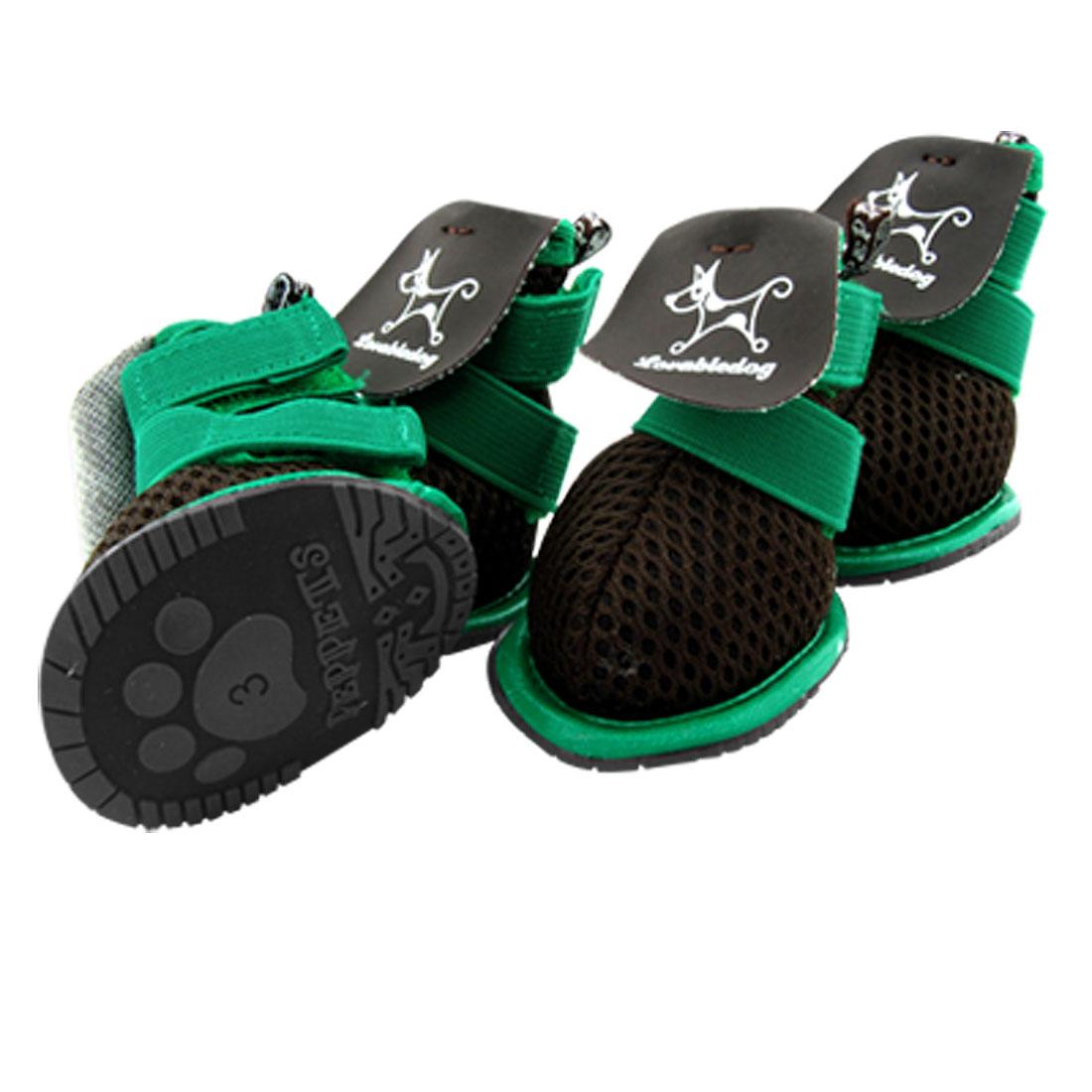 Sz 3 Black Nonslip Sole Meshy Puppy Pet Dog Shoes Booties