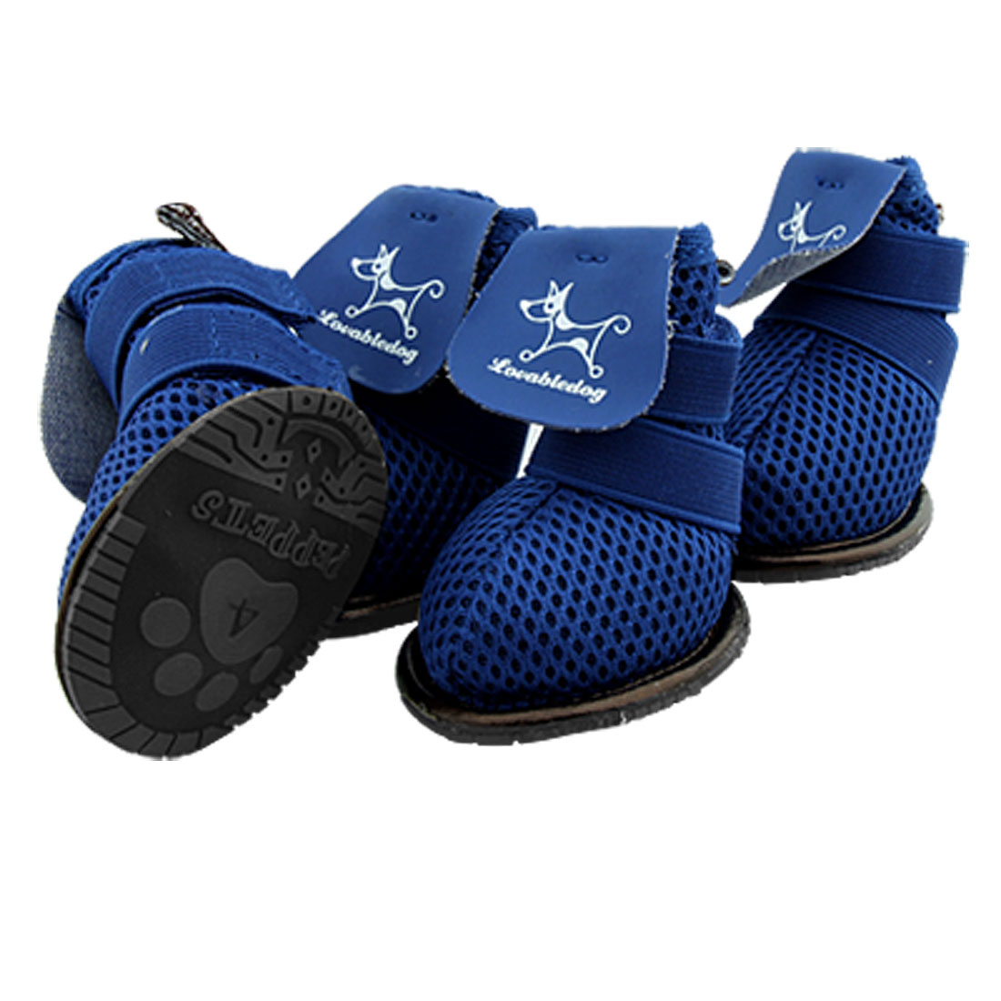 Breathable Dog Shoes Blue PuppyBoots Booties Size 4
