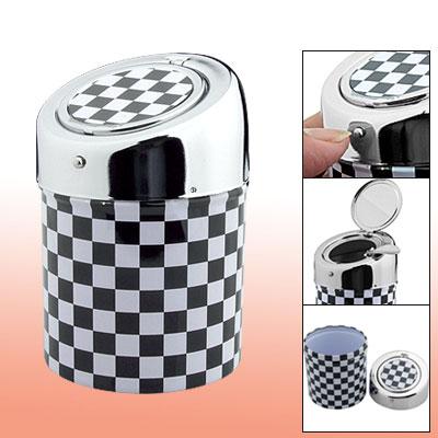 Grid Pattern Column Style Metal Cigarette Cigar Ashtray