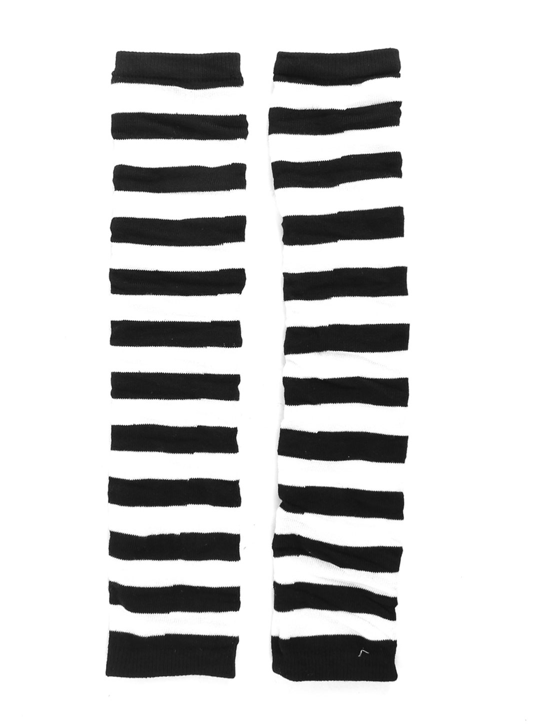 Fashion Ladies Striped Leg Warmers Tight White Black