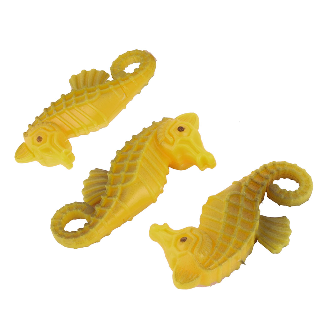 Sea Horse Aquarium Fish Tank Plastic Floating Ornament 3 PCS