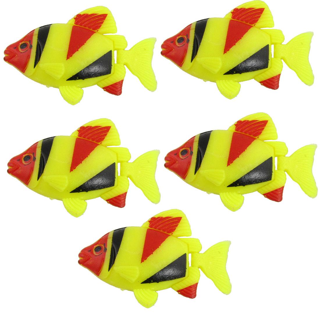 Set of 5 Aquarium Decorative Plastic Floating Fish
